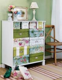 decoracao-com-tecido-caixas-de-papelao-decoradas