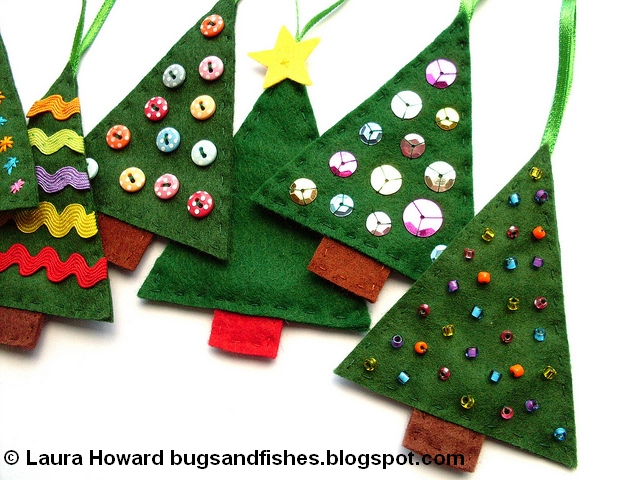 felt christmas tree ornaments 3