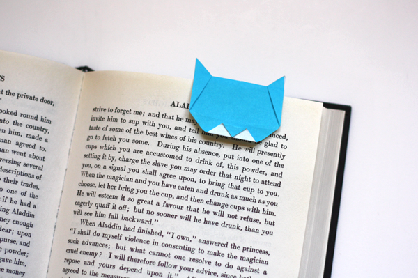 origami-neko-cat-bookmark