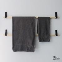 DIY: porta-toalhas de banho alternativo