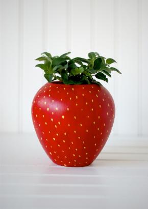 diypaintedstrawberryherbplanterforyourkitchen