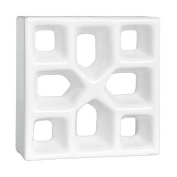Cobogó Reto Xis Esmaltado Branco - Cerâmica Martins
